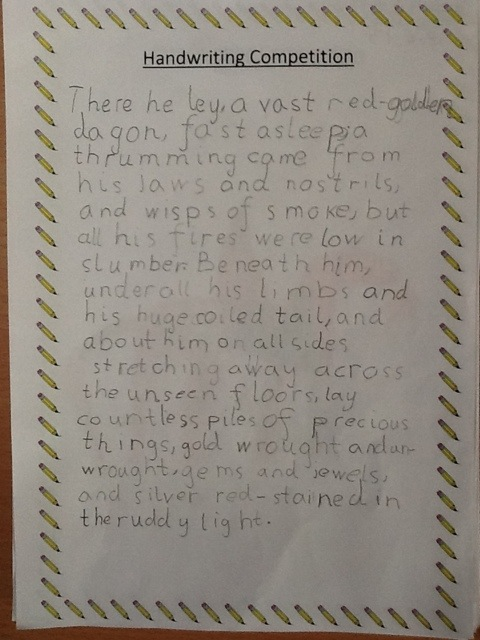 Look at our amazing handwriting! | Hoyland Common Primary ...