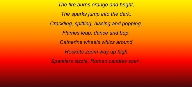Fireworks Verbs | Hoyland Common Primary School BlogSite
