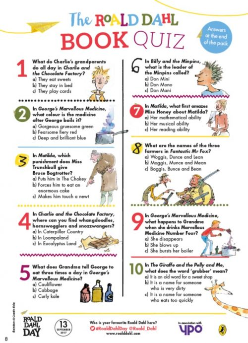 Roald Dahl Quiz